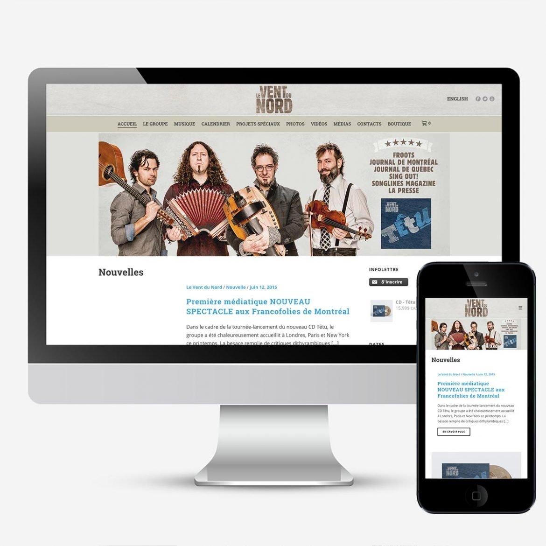 Site Web Le Vent du Nord