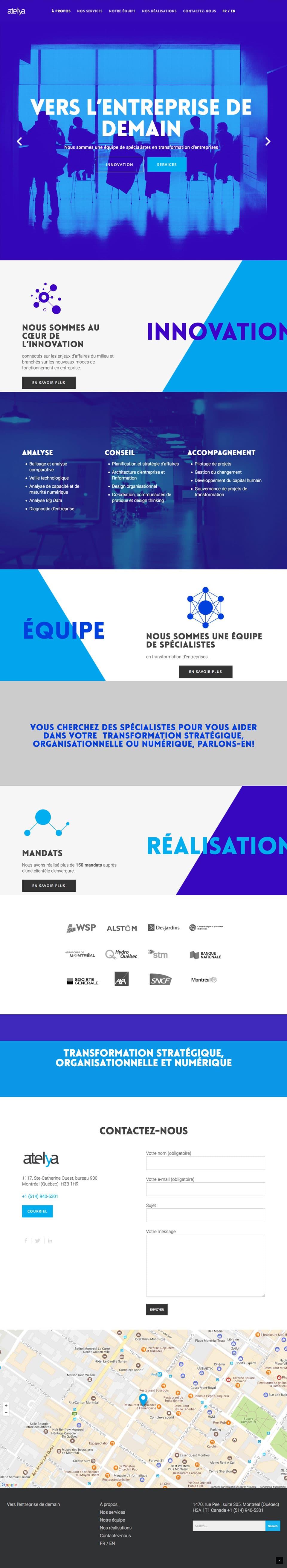 Atelya-Transformateur-entreprise Atelya - Site Web