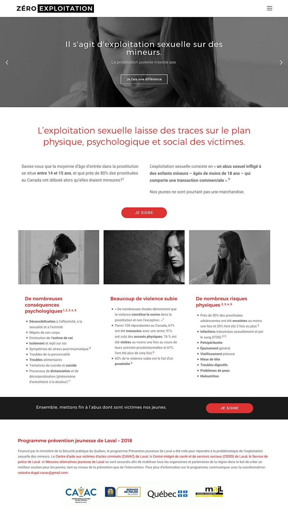 zero_exploitation_site_web_02 Zéro Exploitation - Identité & Site