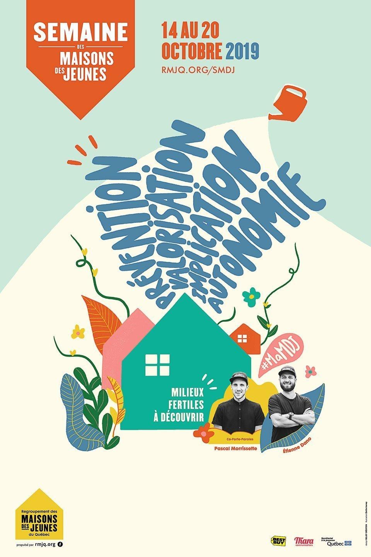 RMJQ-Semaine-2019-Affiche Semaine des Maisons de jeunes - Visuel 2019